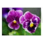 Pensamientos púrpuras tarjeta