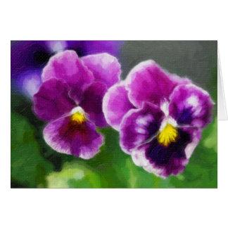Pensamientos púrpuras tarjeta pequeña