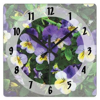 Pensamientos Reloj Cuadrado