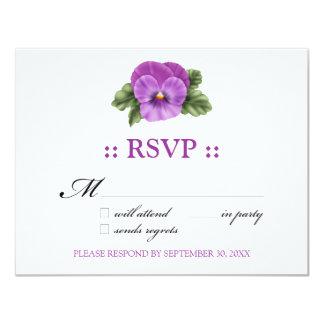 """Pensamientos tarjeta de la respuesta de RSVP Invitación 4.25"""" X 5.5"""""""