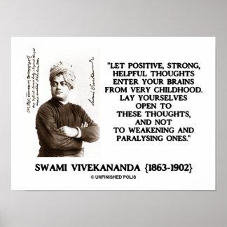 Pensamientos útiles fuertes positivos de Vivekanan Posters