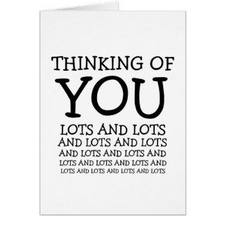 Pensando en usted, el cáncer o consigue tarjeta de felicitación