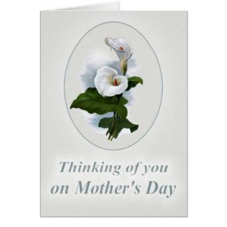 Pensando en usted el día de madre, pérdida de niño tarjeta de felicitación