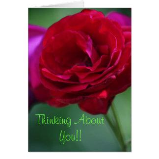 Pensando en usted la tarjeta de felicitación