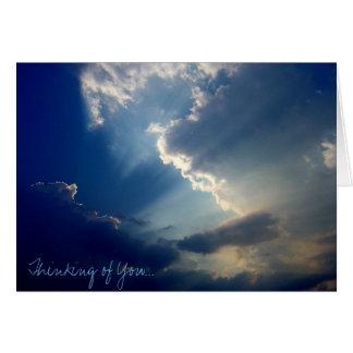 """""""Pensando en usted"""" notecard de la foto Tarjeton"""