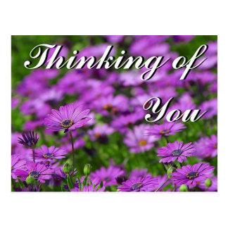 Pensando en usted, postal de la mamá