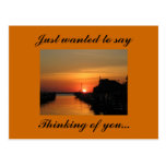 Pensando en usted…, querer decir postal