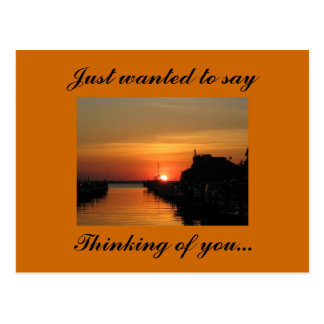 Pensando en usted…, querer decir tarjeta postal