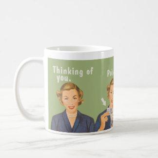 Pensando en usted, veneno de consumición taza básica blanca