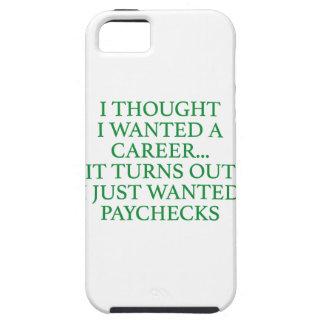 Pensé que quise una carrera… iPhone 5 funda