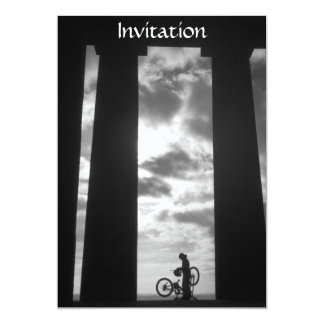 Penshaw Monument with Biker Invitation
