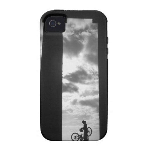 Penshaw Monument with Biker iPhone 4 Case Tough