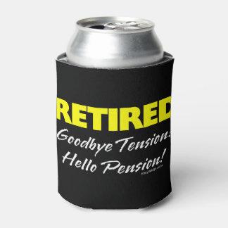 Pensión jubilada de Hellow (oscura) Enfriador De Latas