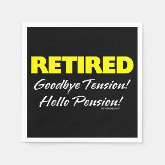 Pensión jubilada de Hellow (oscura) Servilleta De Papel