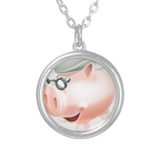 Pension plan savings concept personalized necklace