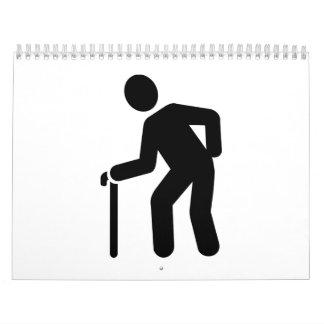 Pensioner walking stick calendar