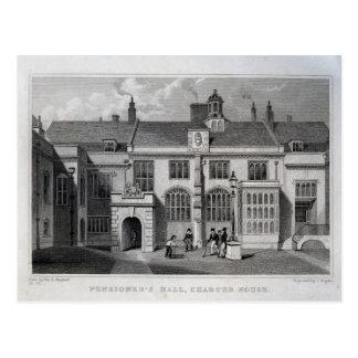 Pensioner's Hall, Charter House Postcard