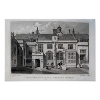 Pensioner's Hall, Charter House Poster