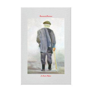 Pensionista/Persioner Lona Envuelta Para Galerías
