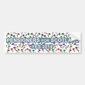 Pensionistas escoceses para el pegatina de la inde pegatina para auto