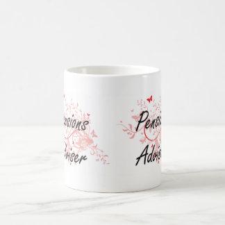 Pensions Adviser Artistic Job Design with Butterfl Coffee Mug