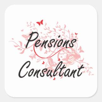 Pensions Consultant Artistic Job Design with Butte Square Sticker