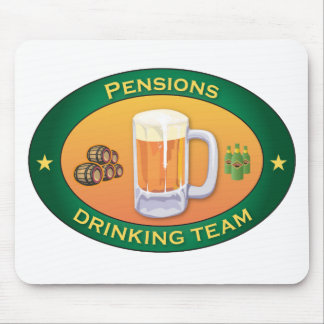 Pensions Drinking Team Mouse Mats