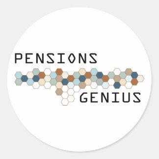 Pensions Genius Classic Round Sticker