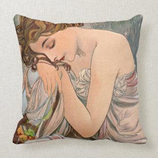 Pensive 1887 throw pillow