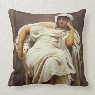 Pensive 1894 throw pillow