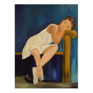 Pensive Ballerina Postcard