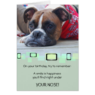 Pensive Brindle Boxer Stationery Note Card