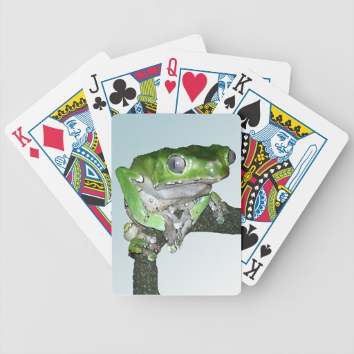 Pensive giant waxy monkey tree frog deck of cards