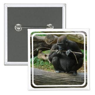 Pensive Gorilla Button