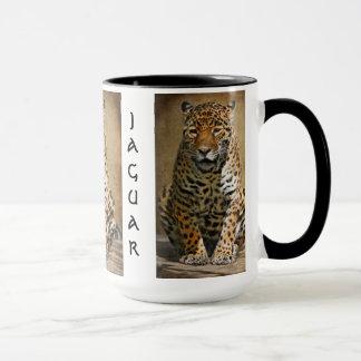 Pensive Jaguar Mug by Lois Bryan