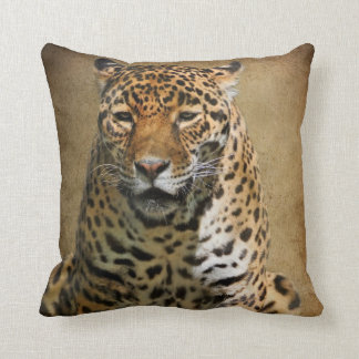 Pensive Jaguar Pillow by Lois Bryan