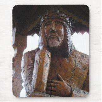 Pensive Jesus - Rupintojelis. Vilkija, LITHUANIA Mouse Pad