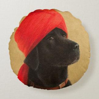Pensive Maharaja 2010 Round Pillow