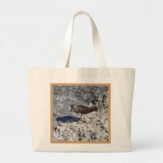 Pensive Piper Large Tote Bag