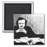 Pensive Poe Fridge Magnet