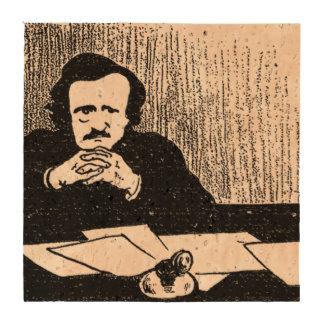 Pensive Poe Beverage Coasters