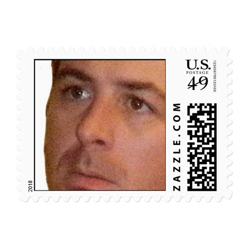 pensive. postage stamps