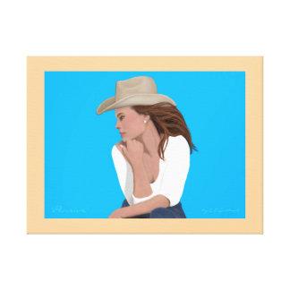 Pensive Print on Canvas (Revised) Canvas Print