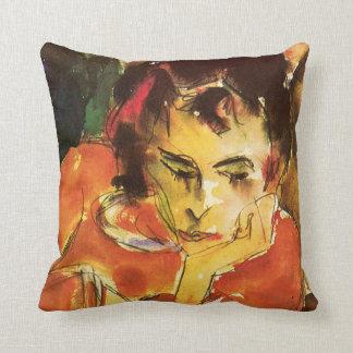 Pensive Throw Pillow