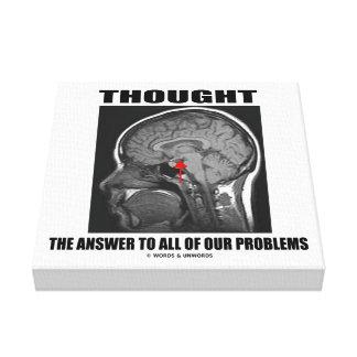 Pensó la respuesta a todo nuestro cerebro de los lienzo envuelto para galerías