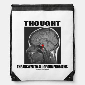 Pensó la respuesta a todo nuestro cerebro de los mochila