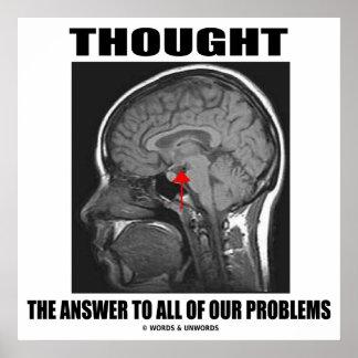 Pensó la respuesta a todo nuestro cerebro de los póster
