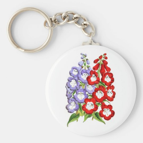 Penstemons - W.E. Gumbleton and Stanstead Rival Keychain