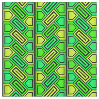 Penta Pattern - Green Fabric