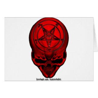 penta skull card
